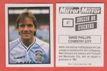 Coventry City David Phillips Wales